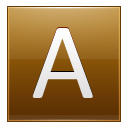 Letter A gold icon