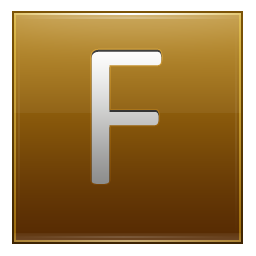 Letter F gold icon