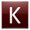 Letter K red icon